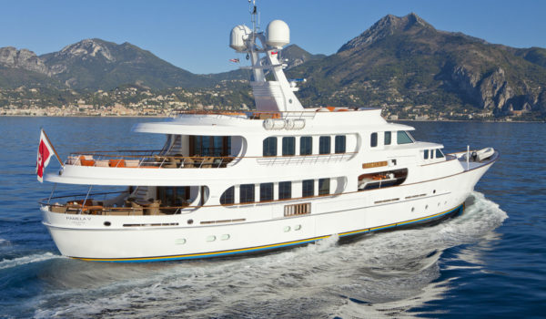 Pamela V superyacht, naval architect, yacht engineering, construction and design by Diana Yacht Design