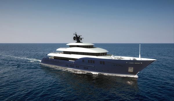 Bluebird Concept yacht seaview