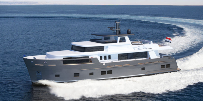 Explorer by Van der Valk with naval architecture by Diana Yacht Design