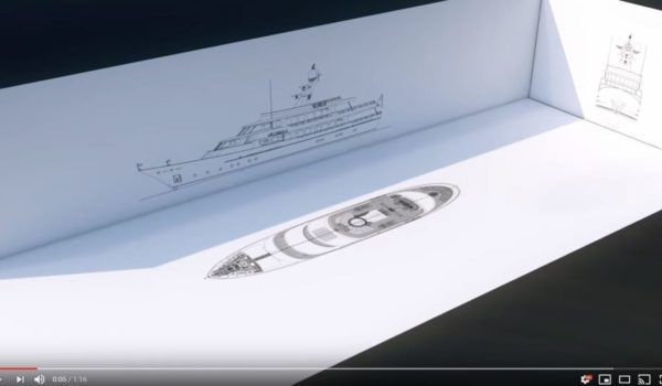 Animation of creating a superyacht