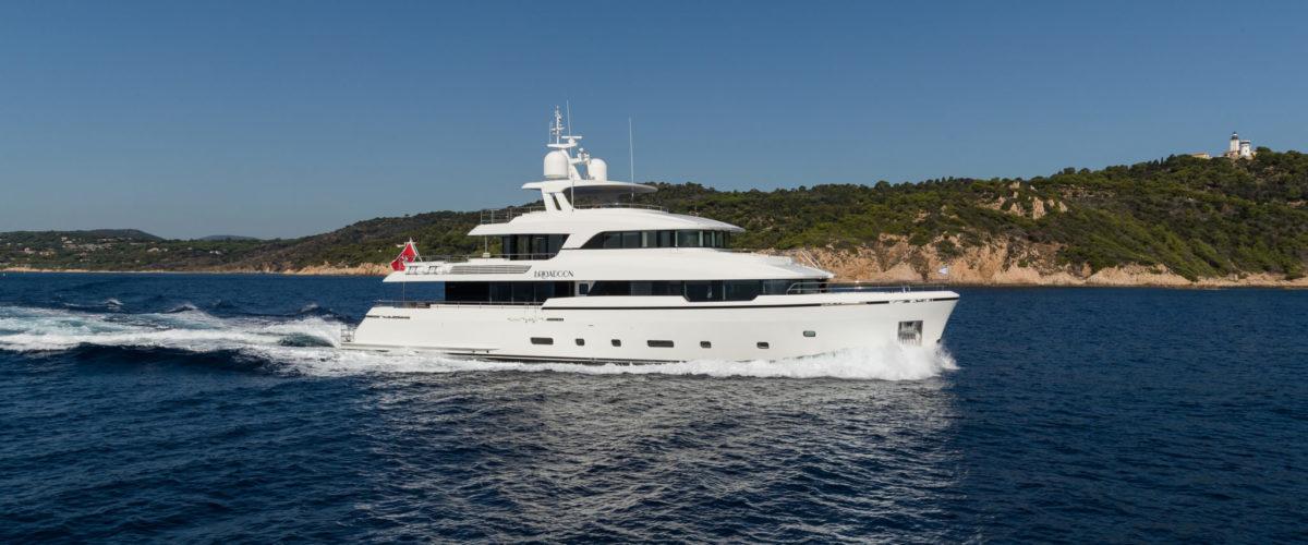 Brigadoon at sea, naval architects Diana Yacht Design