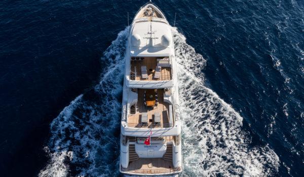 Birdview superyacht Brigadoon, naval architect Diana Yacht Design