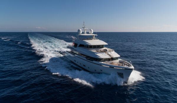 Super yacht Brigadoon at sea, naval architect Diana Yacht Design