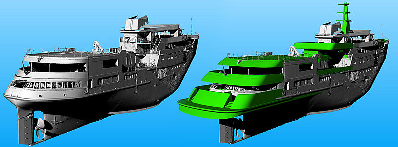 3D scan of explorer yacht Legend by Diana Yacht Design