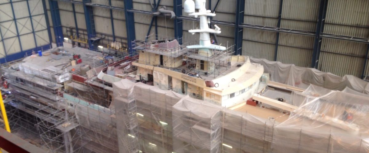 Legend yacht for refit at ICON Yachts