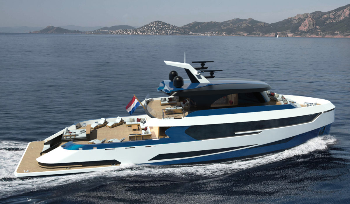 Birdview concept Blue Angel by Diana Yacht Design