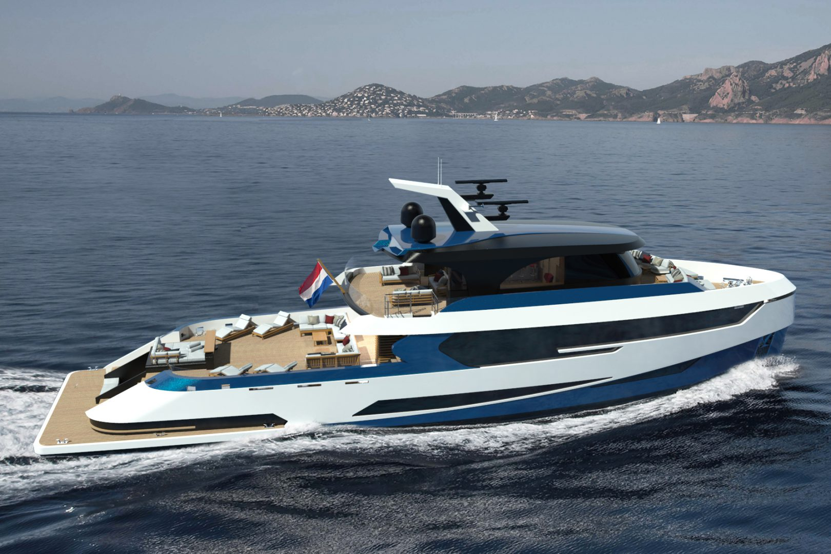 Birdview concept Blue Angel by Diana Yacht Design