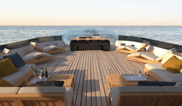 Aft deck concept Blue Angel by Diana Yacht Design