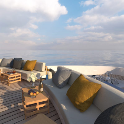 Sun deck concept yacht Blue Angel design by Diana Yacht Design