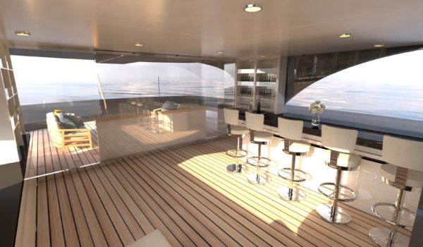 Bridge deck concept yacht Blue Angel by Diana Yacht Design