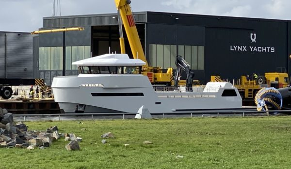 Launch YXT-24 at Lynx Yachts in Nijkerk, March 2020