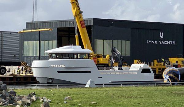 Launch YXT-24 at Lynx Yachts in Nijkerk, March 2020
