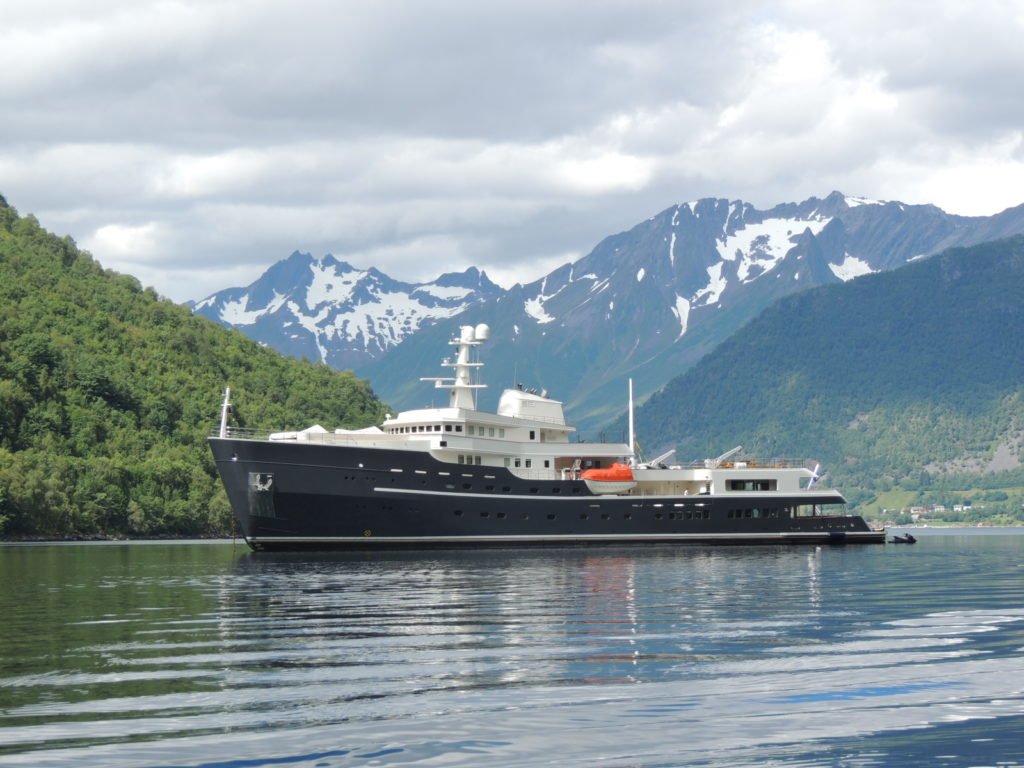 Explorer Yacht Legend in the Fjords- Diana Yacht Design