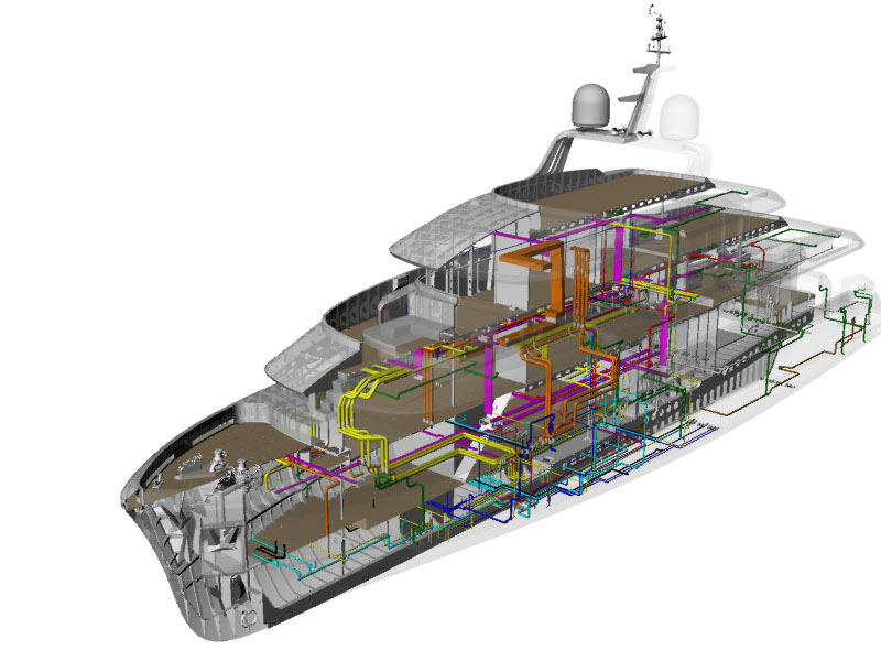 Moonen Martinique series - Yacht Engineering - Piping