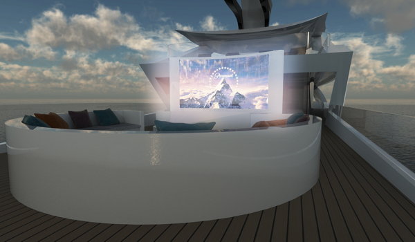 Zenith concept - 360 bench with open air cinema