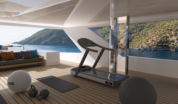Zenith concept yacht - gym in the wintergarden