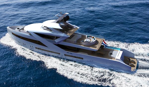 Birdview concept yacht Zenith