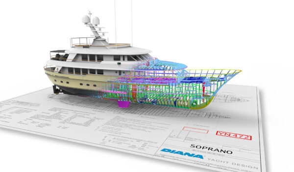 Superyacht Soprano detailed construction