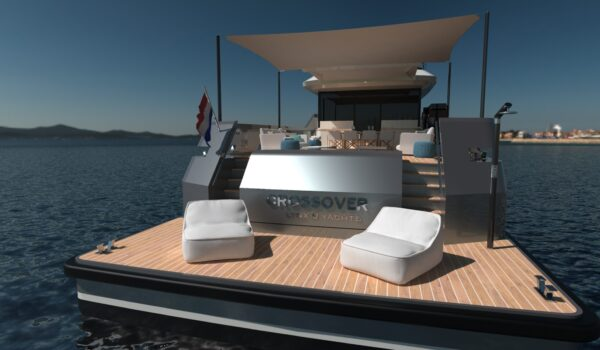 Beach platform Crossover 27 by Lynx Yachts