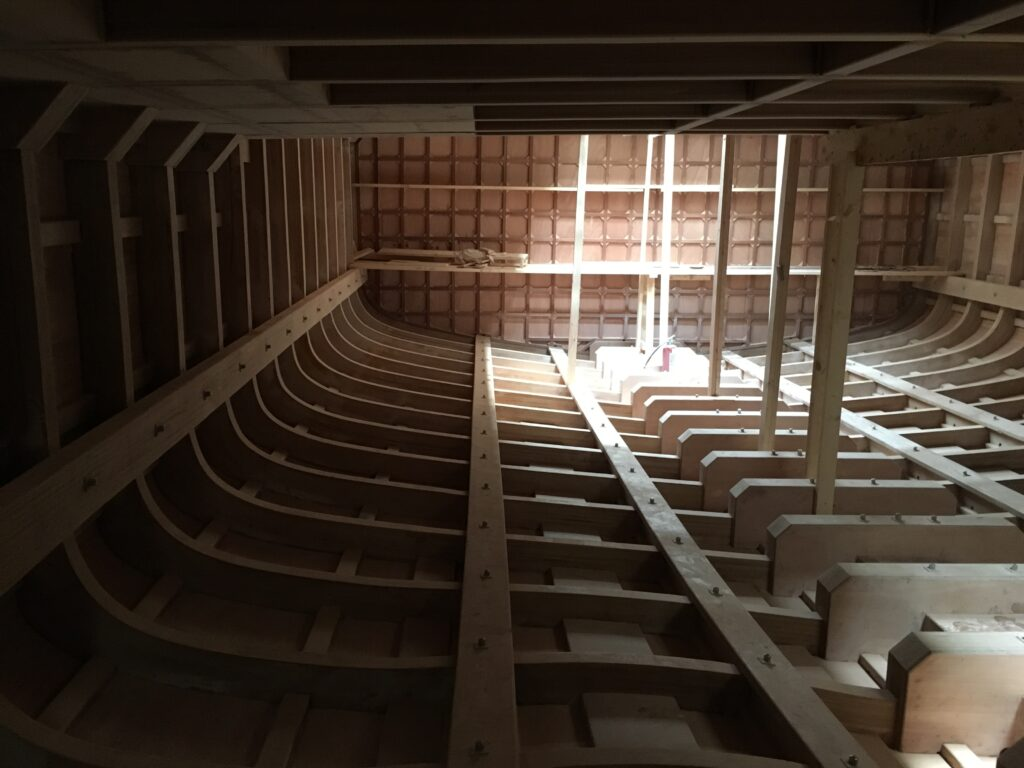 Superyacht wood construction