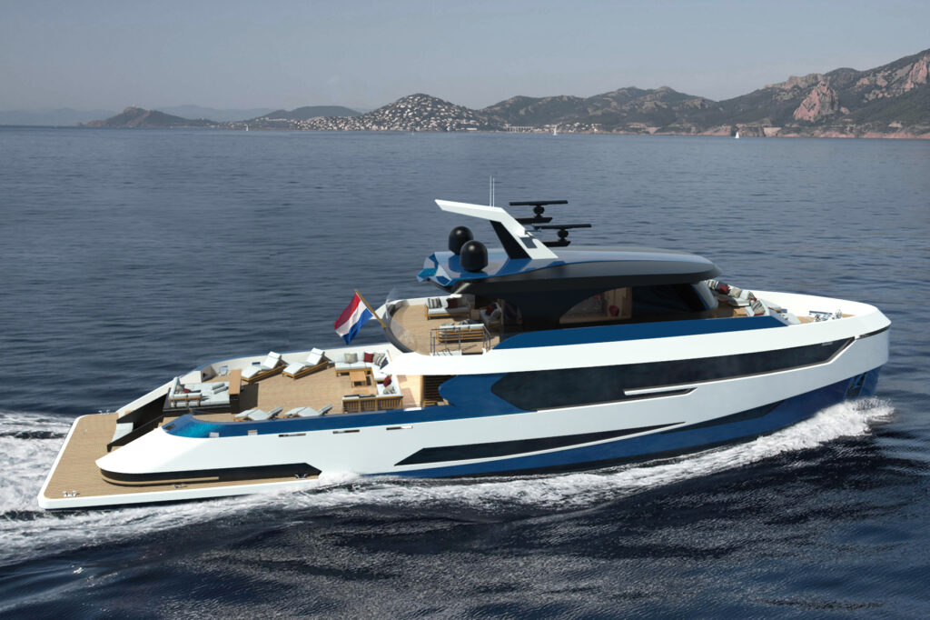 Concept yacht Blue Angel