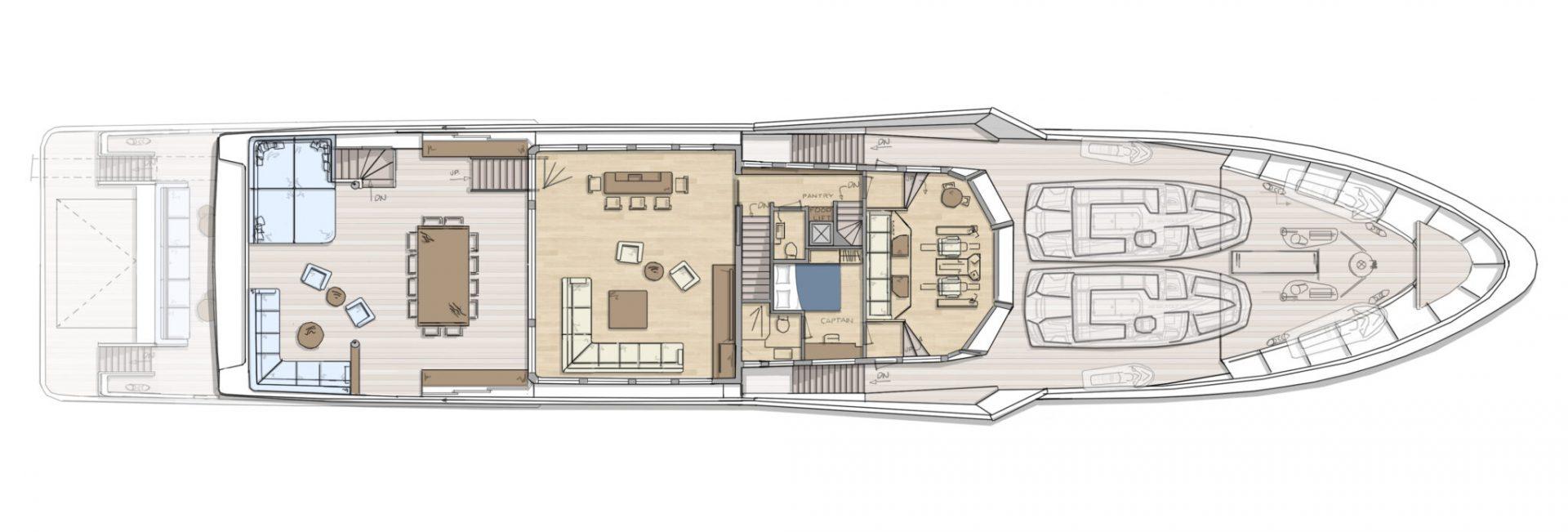 DIANA R.50 - Bridgedeck - superyacht concept design - Diana Yacht Design