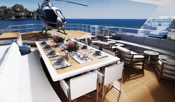 DIANA R.50 - sun deck - superyacht concept - Diana Yacht Design