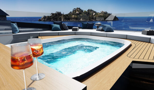 DIANA R.50 - jacuzzi on the sun deck - Diana Yacht Design