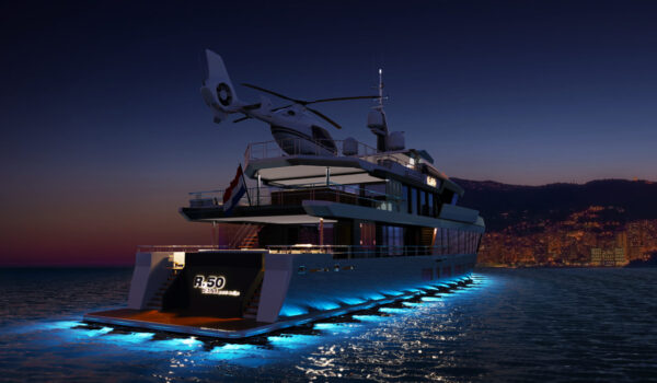 DIANA R.50 - by night cruising to Monaco - concept design by Diana Yacht Design