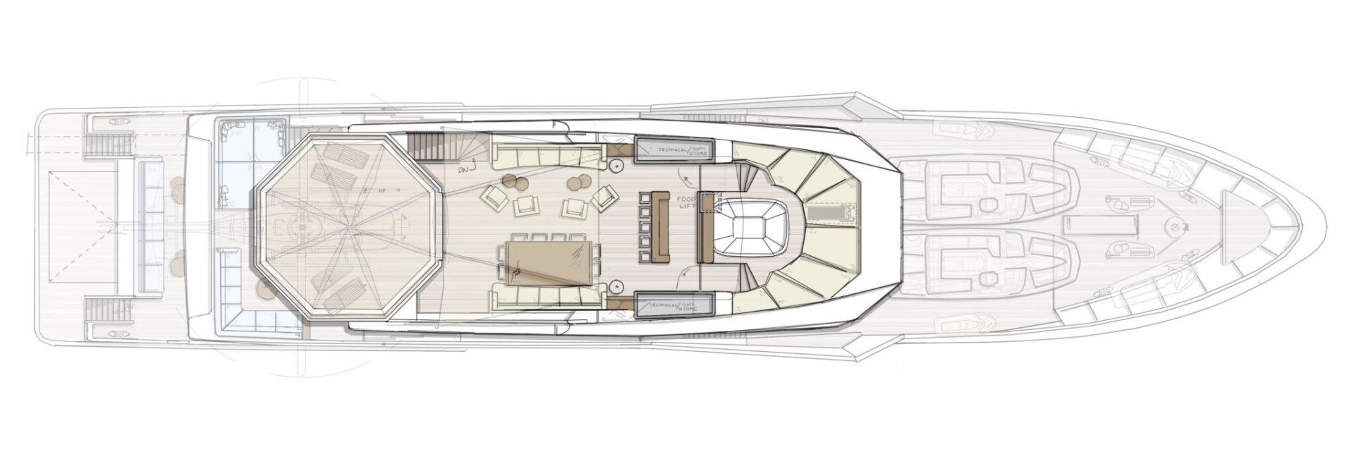 Sundeck - DIANA R.50 - concept design superyacht