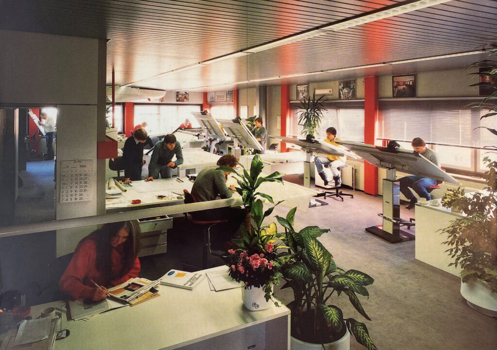 Diana Yacht Design office back in the 80's